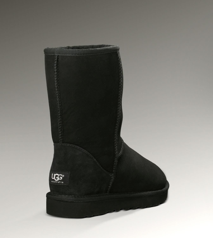 49fd746cf88 UGG Classic Short Boots 5825 Black Classical [UGG-078] - CAD107.93 ...